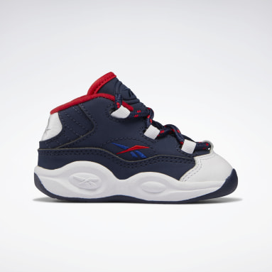 Kids Classics White Question Mid Basketball Shoes - Toddler