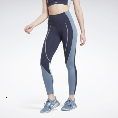 TS LUX HR TIGHT- CB Azul Mujer Fitness & Training
