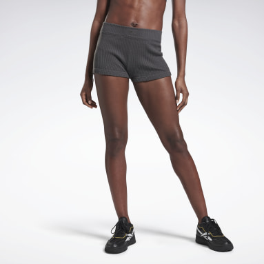 Shorts VICTORIA BECKHAM Knitted Gris Mujer Entrenamiento Funcional