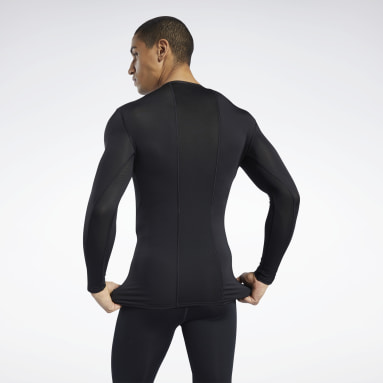 Men Training Black Workout Ready Compression Tee