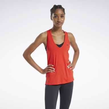 Women Training Red ACTIVCHILL Athletic Tank Top
