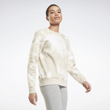 Sweat col rond tie and dye MYT Beige Femmes Fitness & Training