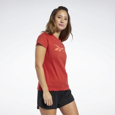 Women Fitness & Training Red Vector Graphic Tee