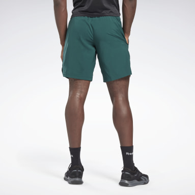 Men Fitness & Training Green Workout Ready Graphic Shorts