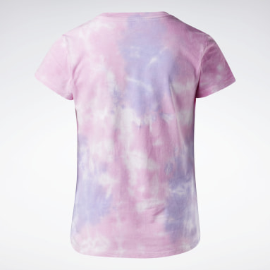 T-shirt tie and dye Reebok Rose Filles Fitness & Training