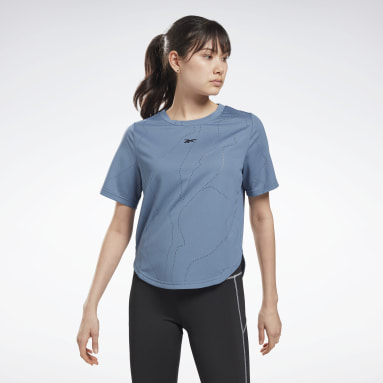 Women Training Blue United By Fitness Perforated T-Shirt