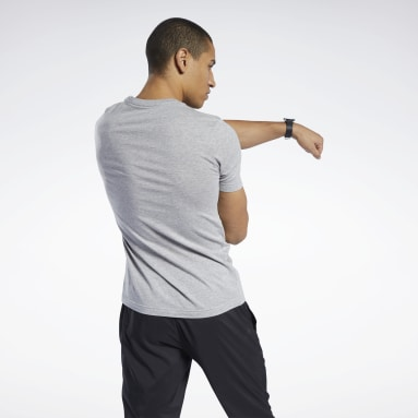 T-shirt Graphic Series Linear Logo Gris Hommes HIIT