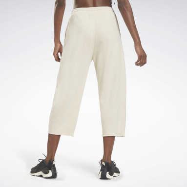 Dames Fitness & Training Wit Les Mills® Non Dye French Terry Broek