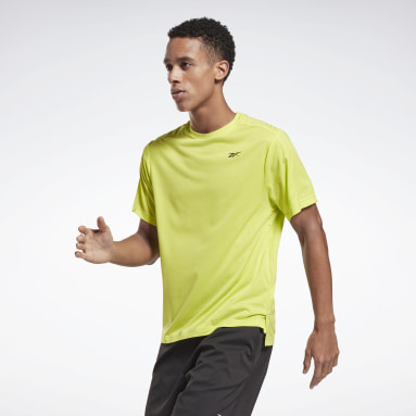 Camiseta United By Fitness Perforated Amarillo Hombre Deporte