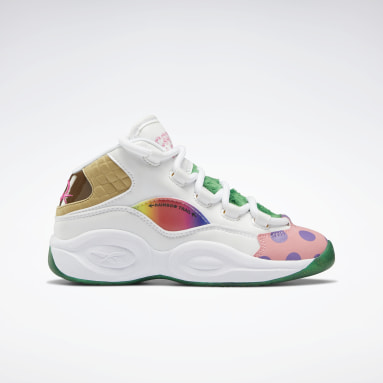 Boys Classics White Candy Land Question Mid Shoes
