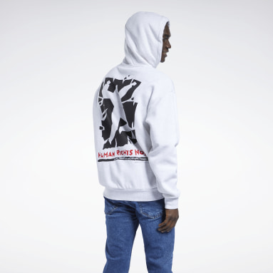 Classics White Human Rights Now! Hoodie