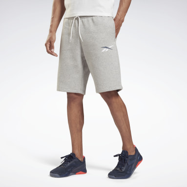 Men Lifestyle Grey Training Essentials French Terry Shorts