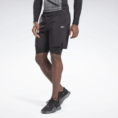 Men Cross Training Black Epic Two-in-One Shorts