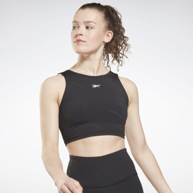 Women Cycling Black Lux Perform Crop Top