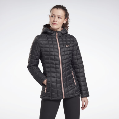Women Fitness & Training Black Packable All Weather Jacket