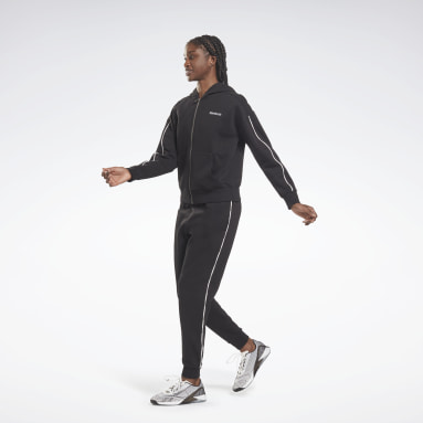 Completo Training Essentials Piping Hooded Nero Donna Lifestyle