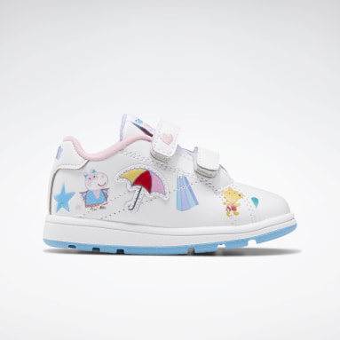 Kids Classics White Peppa Pig Reebok Royal Complete CLN 2 Shoes - Toddler