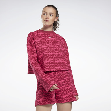 Women Training Pink MYT Printed Long Sleeve Cover-Up
