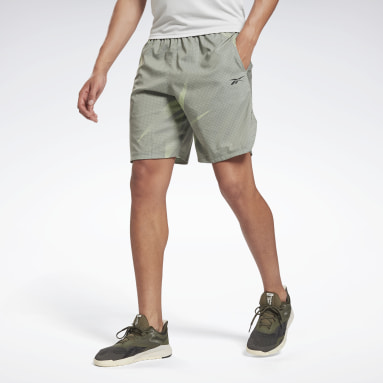 Short Workout Ready Allover Print Verde Uomo Hiking