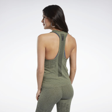 Women Cycling Green United By Fitness MyoKnit Seamless Tank Top