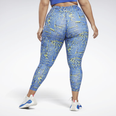 Dames Fitness & Training Blauw Workout Ready Printed Legging (Plus Size)