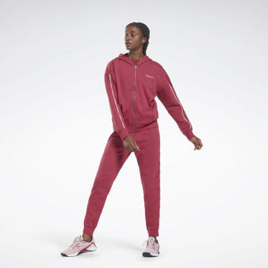 Dames Fitness & Training Roze Piping Pack Hooded TS