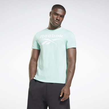 Polo Graphic Series Reebok Stacked Verde Hombre Fitness & Training