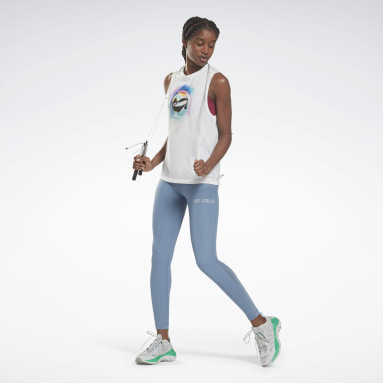 LM Graphic Muscle Tank Blanco Mujer Deporte