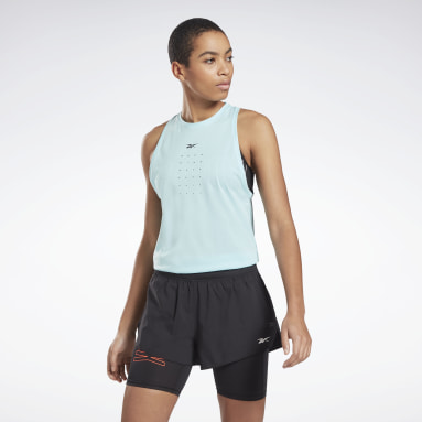 Camiseta sin mangas United by Fitness Perforated Azul Mujer Deporte