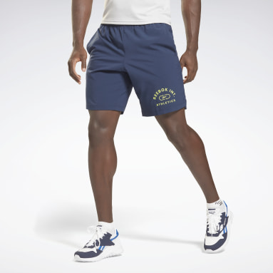 Short Workout Ready Graphic Bleu Hommes Fitness & Training