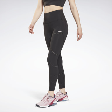 Mallas Lux Perform High Rise Perforated Negro Mujer Deporte