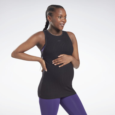 Women Studio Black Maternity Tank Top