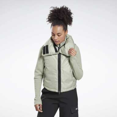 Women Lifestyle Grey Outerwear Synthetic Down Puffa Vest