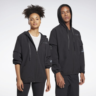 Studio LES MILLS® Woven Full-Zip Jacket Schwarz