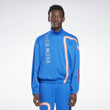 Classics Blue Reebok by Pyer Moss Mock Neck Track Shirt