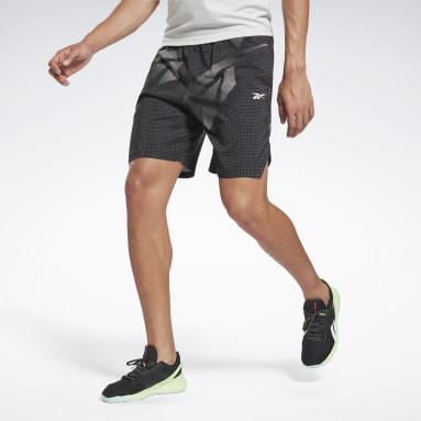 Men Fitness & Training Black Workout Ready Allover Print Shorts
