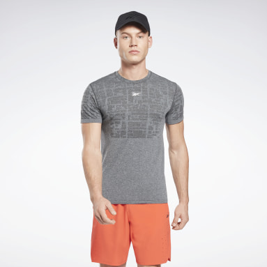Men Cycling Grey United By Fitness MyoKnit Seamless T-Shirt