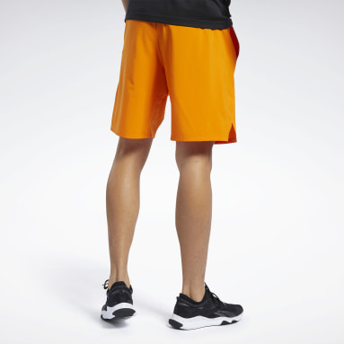 Men Hiking Orange Speedwick Speed Shorts