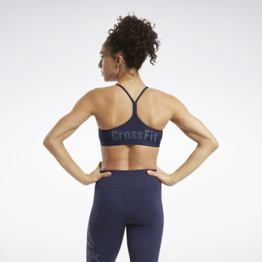 Bra CrossFit® Skinny Strap Read Medium-Impact Blu Donna Cross Training
