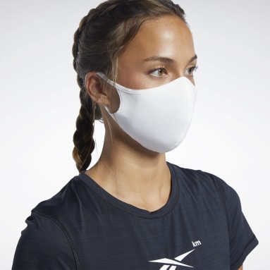 Protection pour le visage M/L - Lot de 3 Blanc Fitness & Training