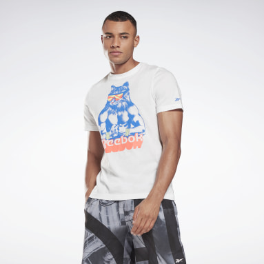 Polera Gritty Kitty T- Blanco Hombre Fitness & Training