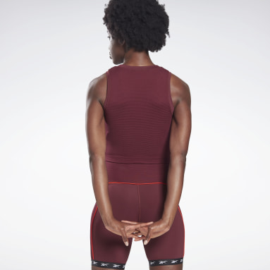 Women Studio Burgundy Studio Performance High-Intensity Tank Top