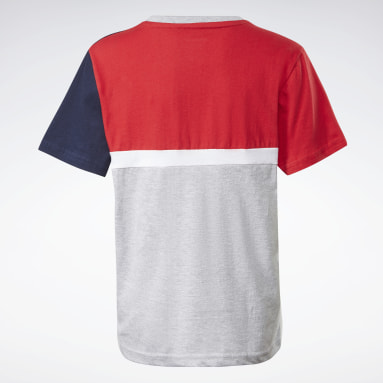 T-shirt à manches courtes Reebok Heritage Rouge Boys Fitness & Training