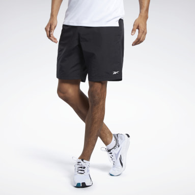 Men Casual Black Training Essentials Utility Shorts