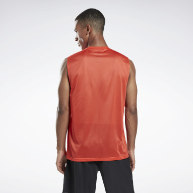 Men Training Red Workout Ready Sleeveless Tech T-Shirt