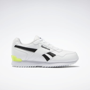 Kids Classics White Reebok Royal Glide Ripple Clip Shoes