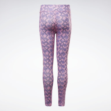 Legging Reebok Snake Full Rose Filles Outdoor