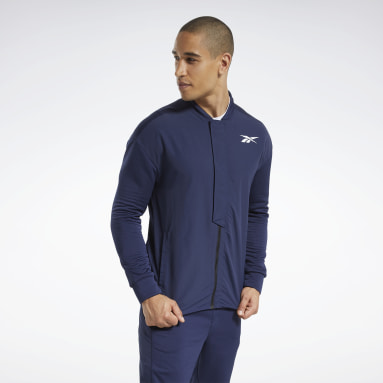 Men Fitness & Training Blue Speedwick Layering Track Jacket