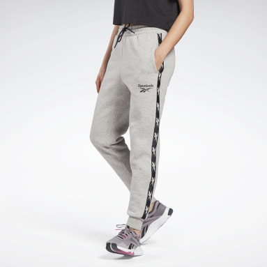 Dames Fitness & Training Grijs Tape Joggingbroek