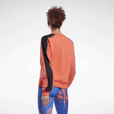 Women Fitness & Training Orange MYT Crew Sweatshirt